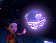 The girl and the orb that made the stars