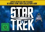 10 Movie Star Trek Collector's Set - Limited Edition Steelbook Collection German box cover