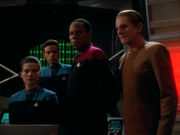 Dax, Bashir, Sisko, and Odo, 2370