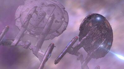 Enterprise im Nebel