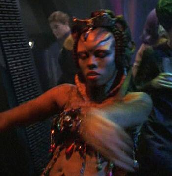 ...as an alien dancer