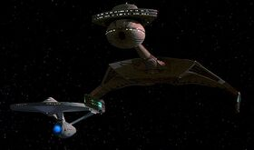 USS Enterprise-A escorting Kronos One