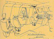 Class F shuttlecraft interior sketch