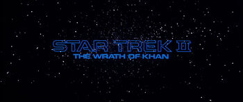 Title card for Star Trek II: The Wrath of Khan