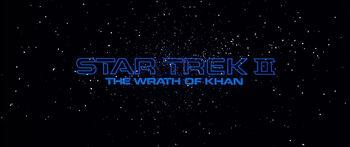 Title card for Star Trek II: The Wrath of Khan
