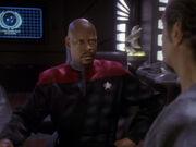Sisko schlägt Akorem Besuch bei Propheten vor