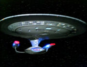 USS Enterprise-D, 2364 (original footage)