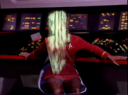Uhura being turned into an inert solid