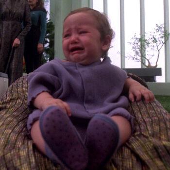 ... as the infant Deanna Troi