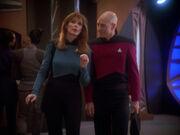 Picard und Crusher auf Deep Space 9