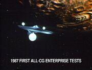 USS Enterprise TNG evalution CGI model