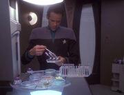 Bashir with test tubes