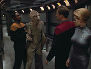 Lumas meeting Seven of Nine