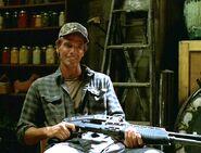 Porter with shotgun