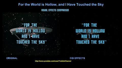 """TOS """"For The World Is Hollow And I Have Touched The Sky"""" - """"Au bout de l'infini"""" - comparaison des effets spéciaux"""