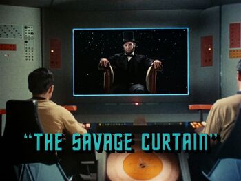 The Savage Curtain title card