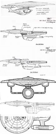 USS Enterprise-C Sternbach design sketches