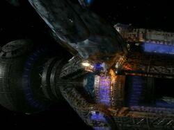 Voyager rams timeship
