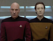 Data and Picard small talk