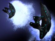 Raumschiffe der Nachtwesen drehen ab