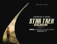 Star Trek Discovery Season 2 Christopher Pike banner