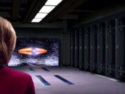 Kraftfeld des Shuttlehangars der Voyager