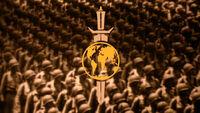 Marschierende Truppen des Terranischen Imperiums