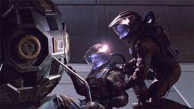 Romulan mine traps Reed