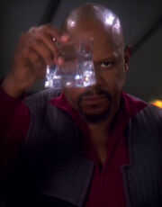 Sisko toasts the good guys, cropped