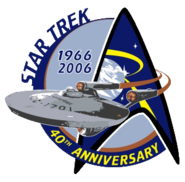 Star Trek 40th anniversary logo
