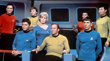 The crew during the five-year mission