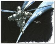 Enterprise spacedock sketch