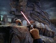 Kirk shooting Mitchell on Delta Vega