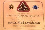 Picards Auszeichnung für den Kadettenmarathon