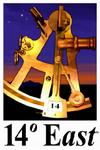 14 Degrees East Logo