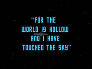 3x10 For the World is Hollow and I Have Touched the Sky title card