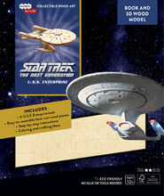 TNG Enterprise Book and 3D Wood Model Kit