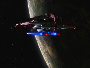 USS Sutherland in drydock at Starbase 234 in 2367
