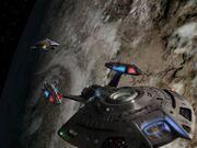 Voyager feuert auf Equinox