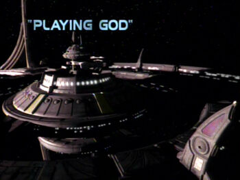 Playing God title card