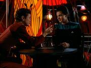 Kira and Dax raise a glass