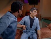 M'Benga slapping Spock