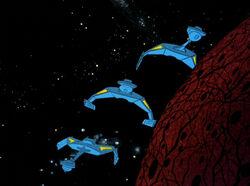 Romulan D7s ambush Enterprise, 2270