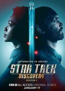 Star Trek Discovery Season 2 Michael Burnham and Spock poster