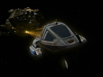 The Cochrane II attacked by the Hirogen
