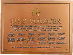 Eaglemoss USS Voyager dedication plaque