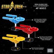 Mega Bloks SDCC 2016 USS Enterprise Mini Ship