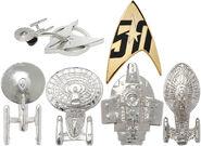 ThinkGeek Star Trek 50th Anniversary Pin Set - Starfleet