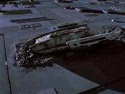 USS Jenolan crash-landed