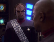 Worf rechtfertigt sich vor Sisko